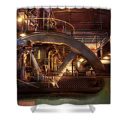 Shower Curtain featuring the photograph Steampunk - Pumped Up by Mike Savad