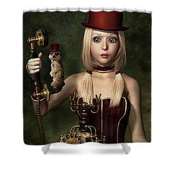 Steampunk Surprise Shower Curtain