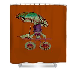 Steampunk T Shirt Design Shower Curtain
