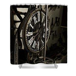 Steampunk - Timekeeper Shower Curtain by Paul Ward