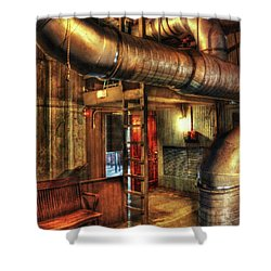 Steampunk - Where The Pipes Go Shower Curtain by Mike Savad