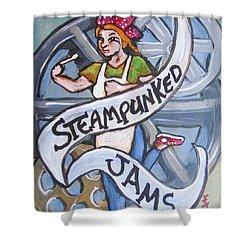 Steampunked Jams Shower Curtain by Loretta Nash