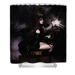 Steampunkxpress Shower Curtain by Shanina Conway