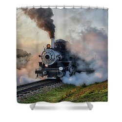 Steamy Departure Shower Curtain
