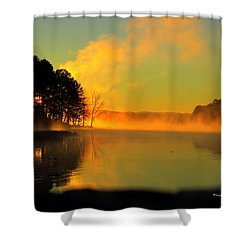 Steamy Sunrise Shower Curtain