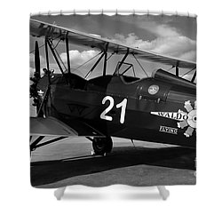 Stearman Biplane Shower Curtain by David Lee Thompson