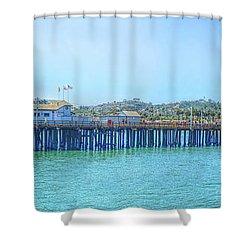 Stearns Wharf Shower Curtain
