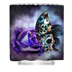 Steel Butterfly Shower Curtain
