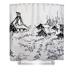 Steel Creek Mine Montana Shower Curtain by Kevin Heaney