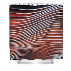 Steel Ribbons Shower Curtain