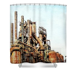 Steel Stack Blast Furnaces Shower Curtain