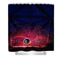 Steel Wool Spinner Shower Curtain