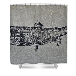 Steelhead Salmon - Smoked Salmon Shower Curtain