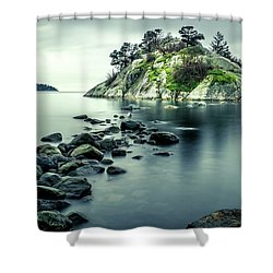 Steely Day At Whytecliff Shower Curtain