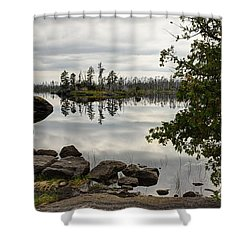 Shower Curtain featuring the photograph Steely Day by Larry Ricker