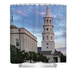 Steeple At Dusk Shower Curtain