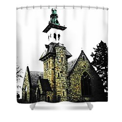 Steeple Chase 2 Shower Curtain by Sadie Reneau