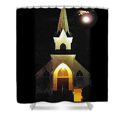Steeple Chase 3 Shower Curtain by Sadie Reneau
