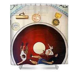 Steeple Chase Funny Place Shower Curtain