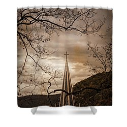 Steeple Of Time Shower Curtain