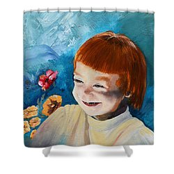 Stefi- My Trip To Holland - Red Headed Angel Shower Curtain