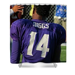 Stefon Diggs Shower Curtain by Kyle West