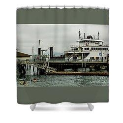 Steilacoom Ferry,washington State Shower Curtain