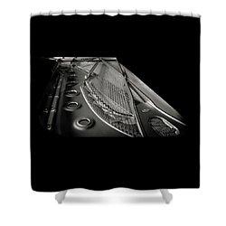 Steinway Guts Bw Shower Curtain