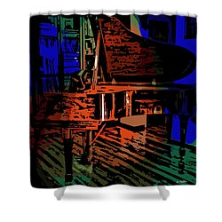 Steinway Piano Shower Curtain by George Pedro