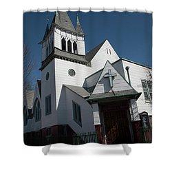 Steinwy Reformed Church Steinway Reformed Church Astoria, N.y. Shower Curtain