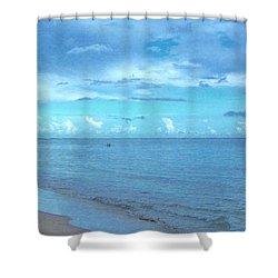 Stella Blue Shower Curtain