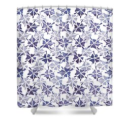 Shower Curtain featuring the painting Stencilled Floral by Jocelyn Friis