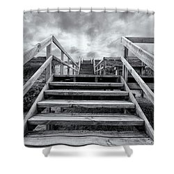 Shower Curtain featuring the photograph Step On Up by Linda Lees