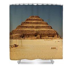 Step Pyramid 2 Shower Curtain by Joe  Ng