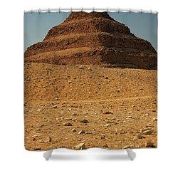 Step Pyramid Shower Curtain by Joe  Ng