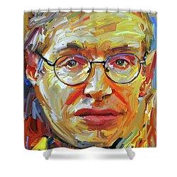 Stephen Hawking Tribute Portrait 4 Shower Curtain