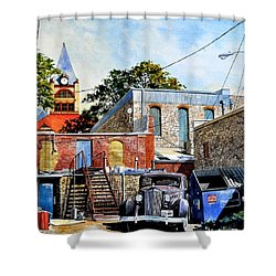 Stephenville Alley  Shower Curtain
