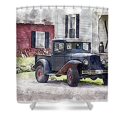 Stepping Back Shower Curtain