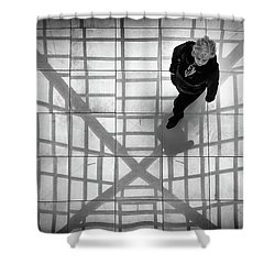Shower Curtain featuring the photograph Stepping Into The Web by John Williams