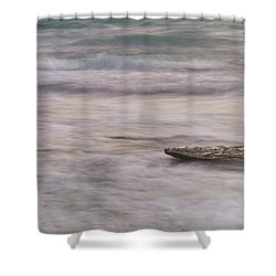 Shower Curtain featuring the photograph Stepping Stone by Alex Lapidus