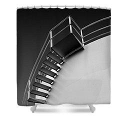 Stepping Up Shower Curtain by Joe Bonita