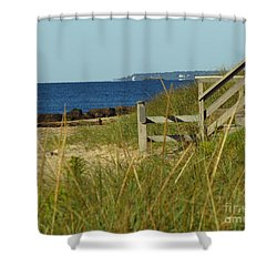Steps Away From The Ocean Shower Curtain