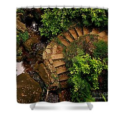 Steps Leading Up The Stairway To Heaven Shower Curtain