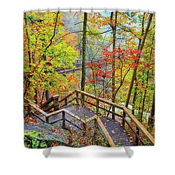 Steps To The Gorge Shower Curtain
