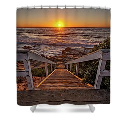 Steps To The Sun  Shower Curtain by Peter Tellone