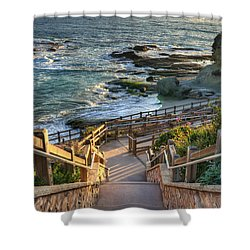 Steps To Treasure Island Beach Shower Curtain by Eddie Yerkish