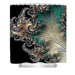 Sterling Feather Shower Curtain