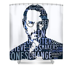 Steve Jobs Here's To The Crazy One's Speach Shower Curtain