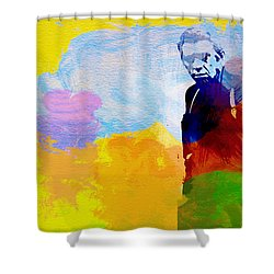 Steve Mcqueen Shower Curtain by Naxart Studio