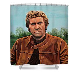 Steve Mcqueen Painting Shower Curtain by Paul Meijering